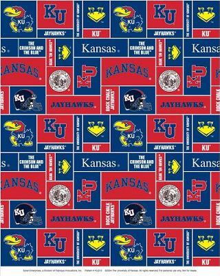 Foust Textiles Inc Kansas Jawyhawks Block Fleece  Search Results