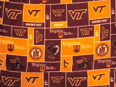 Foust Textiles Inc Virginia Tech Hokies Block Fleece  Search Results