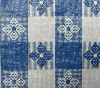 Plastex International Inc Tablecloth Tavern Check Blue   Large Scale Plaid Fabric
