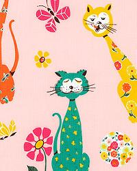 Calico Cat Pink by