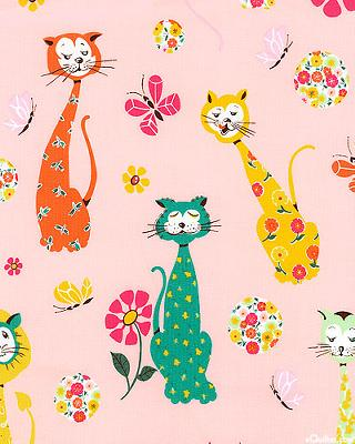 Alexander Henry Calico Cat Pink Search Results
