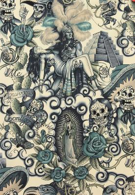 Alexander Henry Contigo Tattoo Blue Mexican Fabric