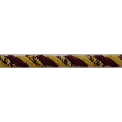 Brimar Trim  1/4 in Braided Cord W/Lip AGO Fabric Cord