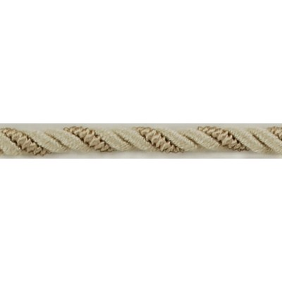 Brimar Trim  1/4 in Braided Cord W/Lip BE Fabric Cord