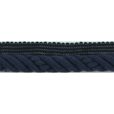 Brimar Trim  1/2 in Braided Cord W/Lip NBL Fabric Cord