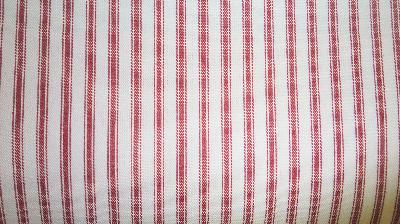 Covington Woven Ticking 30 Red Ticking Fabric