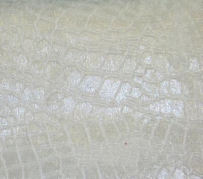 Europatex Crocodile Velvet White Crocodile Velvet