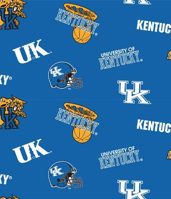 Foust Textiles Inc Kentucky Wildcats Cotton Print - Blue  Search Results