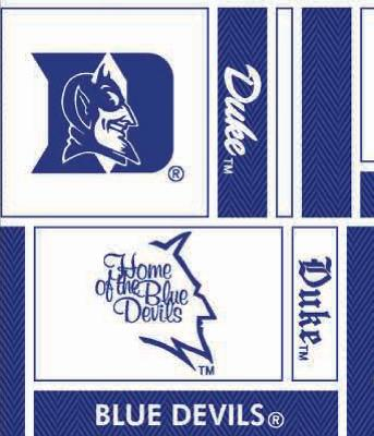 Foust Textiles Inc Duke Blue Devils Block Cotton Print  Search Results