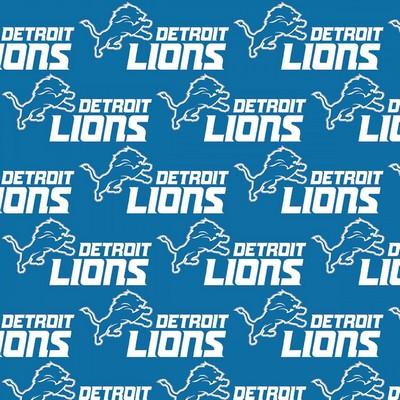Foust Textiles Inc Detroit Lions Cotton Print  NFL Football Fabric