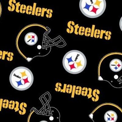 Foust Textiles Inc Pittsburgh Steelers Fleece  NFL Football Fabric