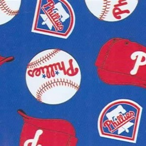 Foust Textiles Inc Philadelphia Phillies Fleece  MLB Baseball Fabric