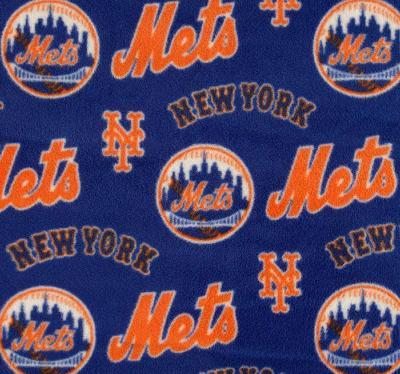 Foust Textiles Inc New York Mets Fleece  MLB Baseball Fabric