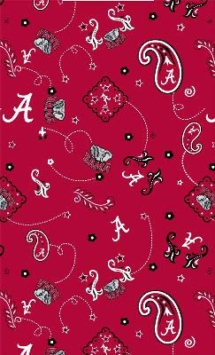 Foust Textiles Inc Alabama Crimson Tide Bandana Cotton Print  Search Results