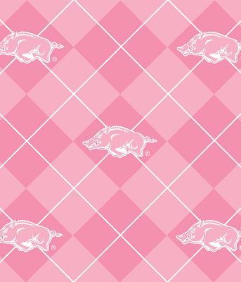 Foust Textiles Inc Pink Arkansas Razorbacks Argyle Fleece  Search Results