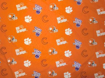 Foust Textiles Inc Clemson Tigers Cotton Print - Orange  Search Results