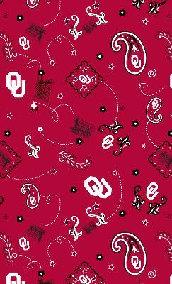 Foust Textiles Inc Oklahoma Sooners Bandana Cotton Print  Search Results