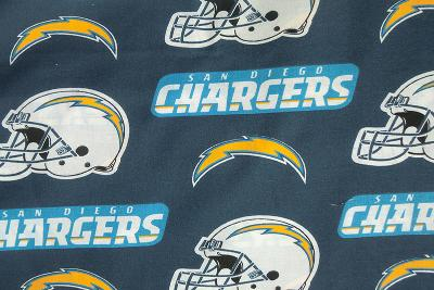 Foust Textiles Inc San Diego Chargers Cotton Print  NFL Football Fabric