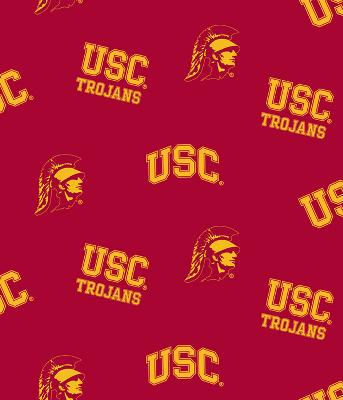 Foust Textiles Inc Southern California Trojans Cotton Print - Red  Search Results