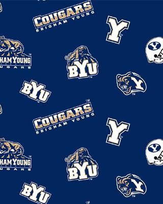 Foust Textiles Inc Brigham Young Cougars Fleece  Search Results