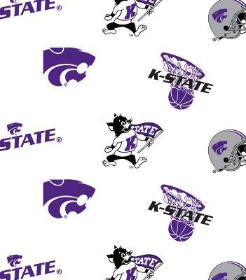 Foust Textiles Inc Kansas State Wildcats White Cotton Print  Search Results
