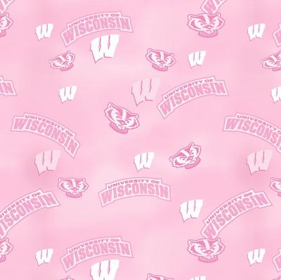 Foust Textiles Inc Pink Wisconsin Badgers Cotton Print  Search Results