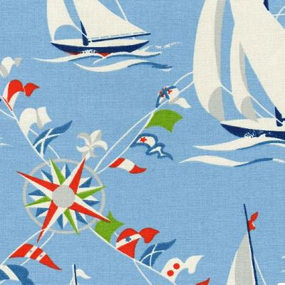 Kast Harbor Blue Boats and Sailing Fabric