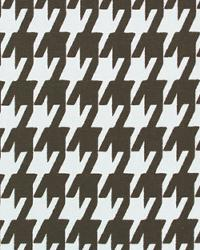 Large Houndstooth Chocolate White by