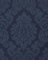 Ralph Lauren Albertine Damask LCF66615F  Prussian Blue Fabric