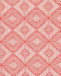Schumacher Fabric Amazing Maze Coral Fabric
