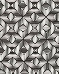 Schumacher Fabric Amazing Maze Kohl Fabric
