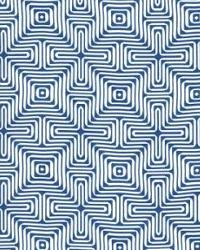Schumacher Fabric Amazing Maze Ocean Fabric