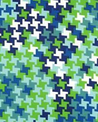 Schumacher Fabric Jax Print Azure Fabric