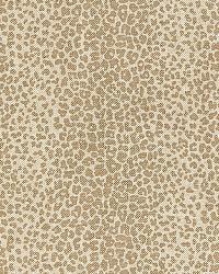 Schumacher Fabric Leopard Linen Print 174842 Sesame Fabric