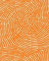 Schumacher Fabric Sonriza Print Orange Fabric