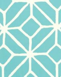 Schumacher Fabric Trellis Print Pool Fabric