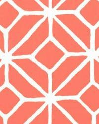 Schumacher Fabric Trellis Print Watermelon Fabric
