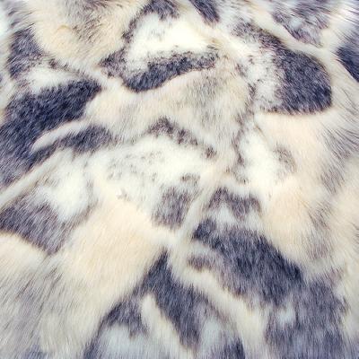 Shannon Fabrics Hi Low Rabbit Ivory Brown Faux Fur Fabric