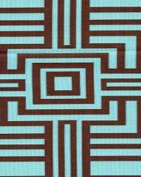 Wesco Mesmerize Turquoise Chocolate Fabric
