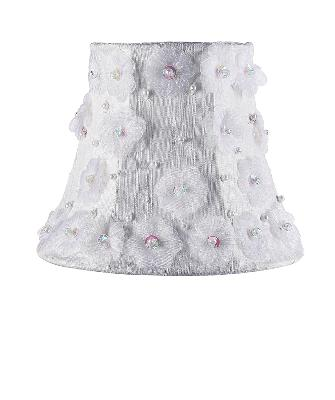 Jubilee Collection Chandelier Shade - Petal Flower White Kids Lamps and Shades