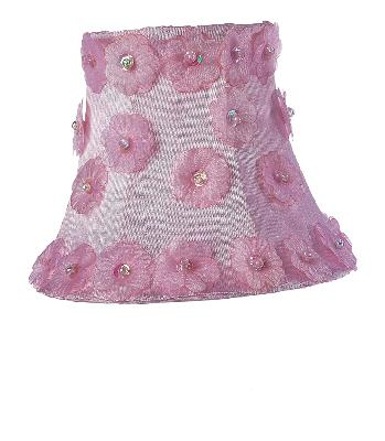 Jubilee Collection Chandelier Shade - Petal Flower Pink Kids Lamps and Shades