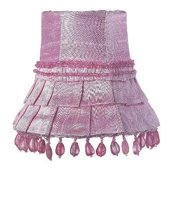 Jubilee Collection Chandelier Shade - Skirt Dangle Pink Kids Lamps and Shades