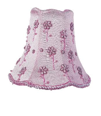 Jubilee Collection Chandelier Shade - Daisy Pearl Pink Kids Lamps and Shades