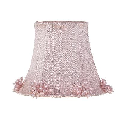 Jubilee Collection Chandelier Shade - Pearl Burst Pink Kids Lamps and Shades