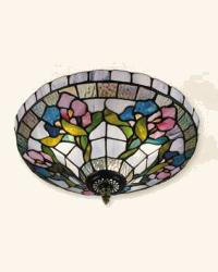 Floral Semi-Flush Mount Light by