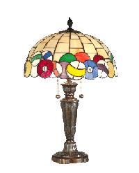 Tiffany Art Glass Pool Balls Table Lamp by