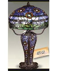 Peacock Lamp with Peacock Solid Metal Base and Nightlight by