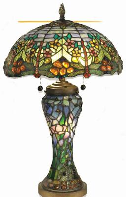 Dale Tiffany Atticus Traditional Glass Table Lamp Antique Brown Finish Search Results