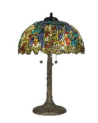Wisteria Shade/Tree Trunk Metal Base by