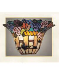 Stained Glass Wall Sconce by